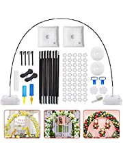 SHINLEYPACK Balloon Arch Kit,11.8Ft Tall & 13.1Ft Wide Adjustable Balloon Arch Stand,with Water Filling Base And Adjustable Bracket,50 Balloon Clips,2 Manual Pumps,2 Knotters,Party Decorations