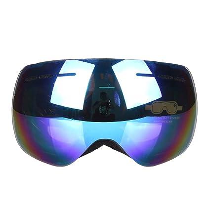 Ropcx Detector Gafas De Esquí Doble UV400 Anti-Niebla Gran Esquí Máscara Gafas Esquí Hombres