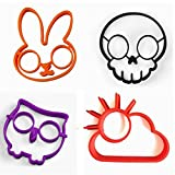 (Set of 4)Silicone Fried Egg Mold Pancake Rings/ Fried Eggs tools , Non Stick Bakeware Accessories Kitchen Tools Halloween breakfastBy Palker sky