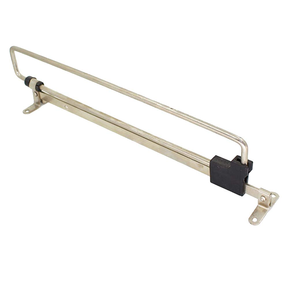 Yardwe Organizador retráctil de Almacenamiento de riel de extensión de riel de Toalla de riel de Armario retráctil de Acero Inoxidable (Tipo simplificado, Plata, 250 mm)