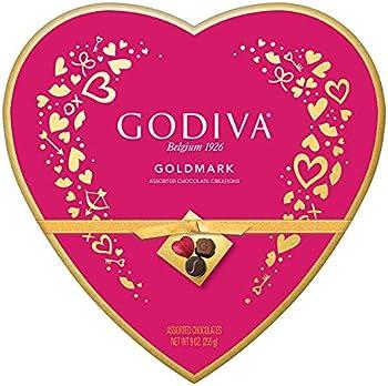 Godiva Valentine's Day Goldmark Assorted Chocolate Heart Box 9oz