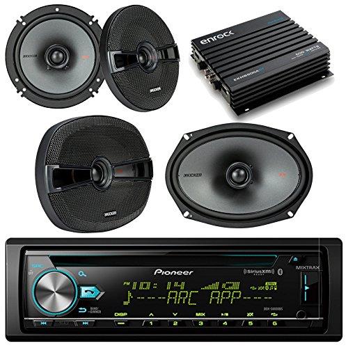 Pioneer DEHX6800BT Bluetooth Car CD Receiver Bundle Combo Wi
