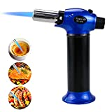 #6: Kitchen Torch Lighter, TedGem Update Refillable Blow Torch Culinary Torch Cooking Torch Butane Torch Flame Lighter with Safety Lock Adjustable Temperature & Flame for Creme Brulee BBQ,Gas Not Included