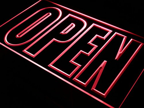 Cartel Luminoso ADV PRO i097-r OPEN Shop Display Cafe ...