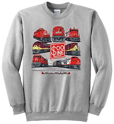 (Soo Line Collage Authentic Railroad Sweatshirt Adult XL[59])