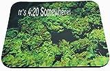 It's 4:20 Somewhere Stoner Marijuana Pot Buds Collage Sublimated Mouse Pad