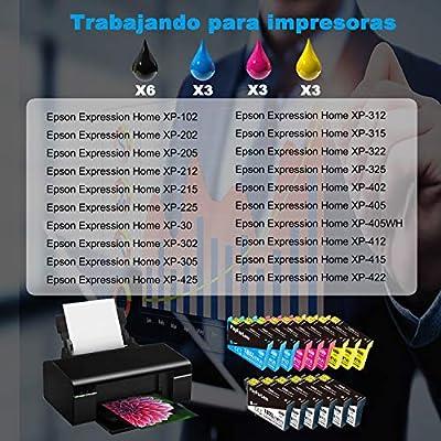 PayForLess 18XL Cartuchos de Tinta Compatible para Epson 18 18XL ...