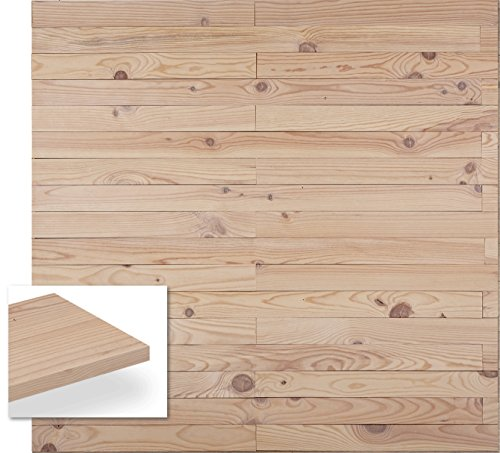 Frost Natural Wood - Timberwall - NORDIC Collection Early Frost - DIY Solid Wood Wall Panel - Peel and Stick application - 10.8 Sq Ft