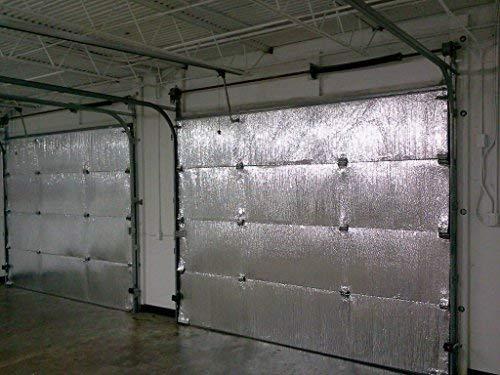 NASA TECH Reflective Platinum Single Car Garage Door Insulation Foam Core Kit Fits Single Garage Car Doors up to 9ft by 7ft NASA Technology MADE IN THE USA
