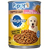 Cheap Pedigree Puppy Chopped Ground Dinner with Chicken & Beef Adult Canned Wet Dog Food, (12) 13.2 oz. Cans