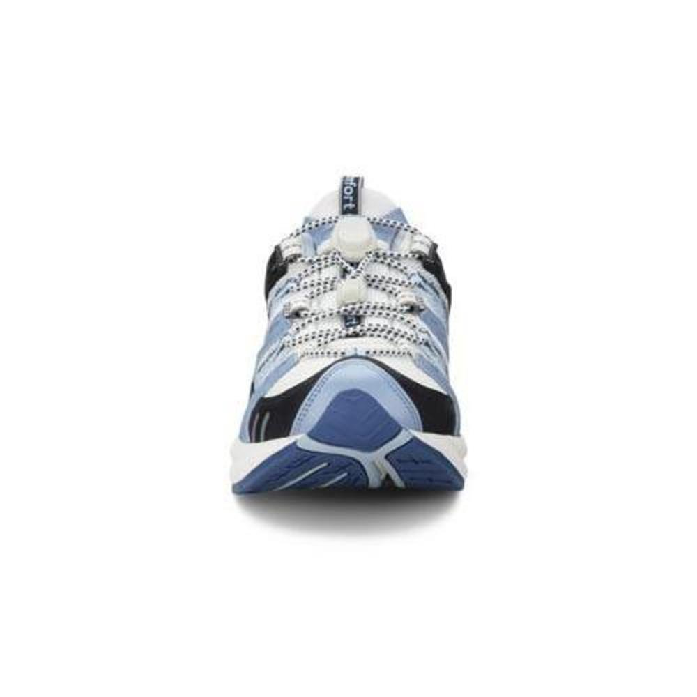 Dr. Comfort Refresh-X Women's Therapeutic Double Depth Shoe: White/Blue 7.5 X-Wide (XW/4E) Lace by Dr. Comfort (Image #3)