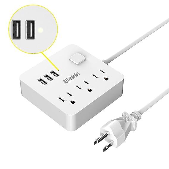 Review Power Strip, Elekin USB
