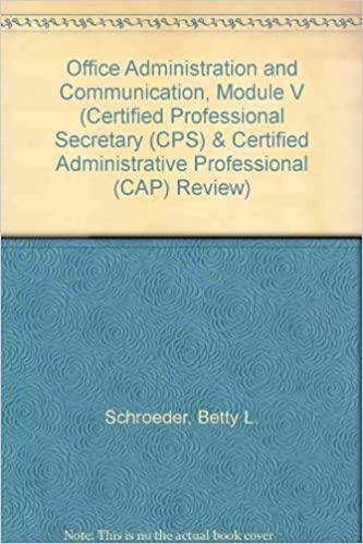 Amazon buy office administration and communication module v amazon buy office administration and communication module v certified professional secretary cps certified administrative professional cap fandeluxe Images