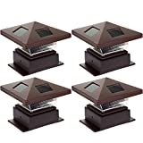 Westinghouse (4 Pack) Pagoda II Solar LED Post Cap Light for 4 x 4 Wood Posts(Bronze)