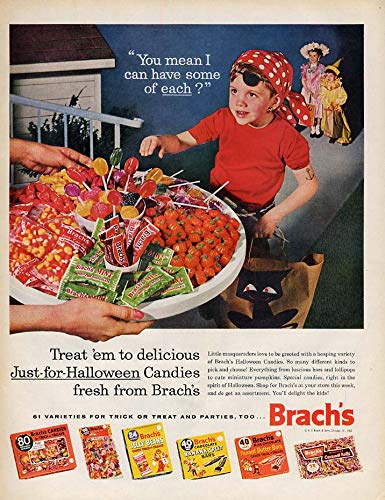 Treat 'em to Just-for-Halloween Brach's Candies ad 1962