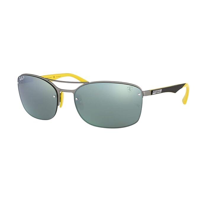 db08c1fc4e Ray-Ban Ferrari - anteojos de sol polarizadas rectangulares para hombre (62  mm)