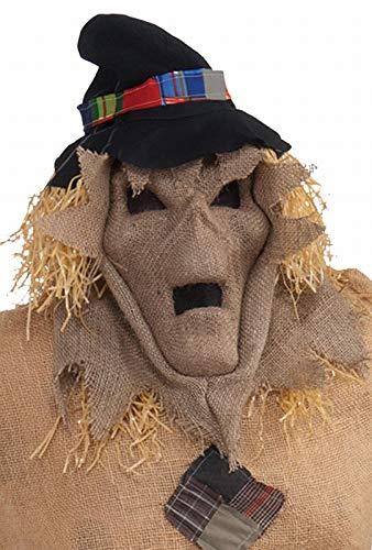 Forum Novelties Burlap Evil Skull Scarecrow Hooded Mask Scare Crow Halloween Costume -