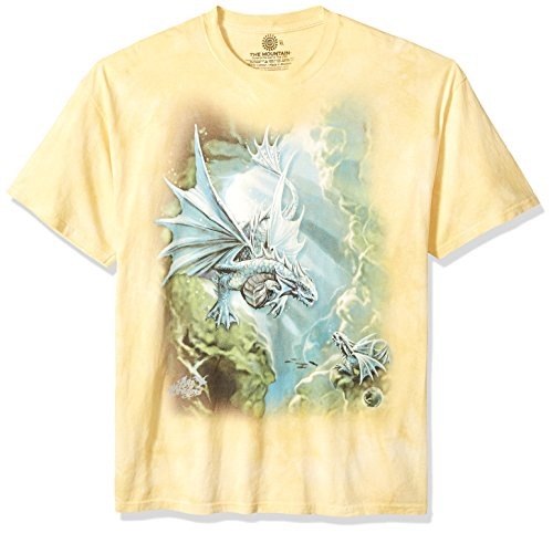 The Mountain Sea Dragon Adult T-Shirt, Yellow, Small