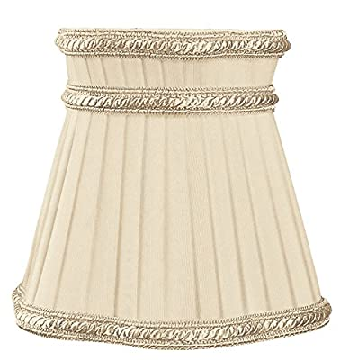 Royal Designs Decorative Trim Top Gallery Empire Beige Chandelier Lamp Shade