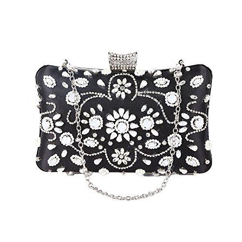Elegant Prom Bridal Handbag Purse Clutch Rhinestone Lovely Rabbit Womens wXP770