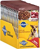 Pedigree Little Champions Chunks in Gravy with Beef Food for Dogs, 5.3-Ounce Pouches (Pack of 24), My Pet Supplies