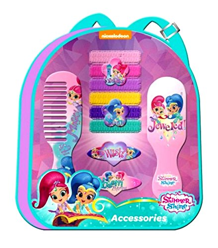 Shimmer and Shine Hair Accessories in Backpack,Official Licensed(10pcs)