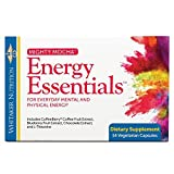 Dr. Whitaker's Mighty Mocha Energy Essentials – Healthy Energy Supplement for Alertness, Mental Focus, and Clarity (14 Vegetarian Capsules)