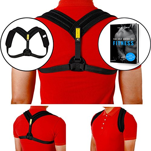 Adjustable Posture Corrector for Men and Women Ergonomically Designed to Offer Excellent Brace Support Helps You Achieve Best Posture for Back Pain Treatment Shoulders & Neck - Harness Revo