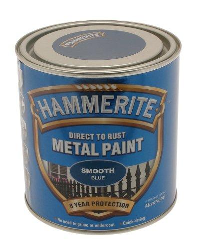 HAMRITE Hammerite 5084884 Ham6722401 250Ml Metal Paint - Smooth Blue ()