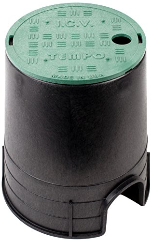 Tempo VBR6GB 6 Inch Round Valve Box w/Overlapping Cover, Professional Grade (ICV, Black/Green) (Valve Water Covers)