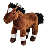 Pounce Pal Plush Brown And White Horse Stuffed Animal (1)