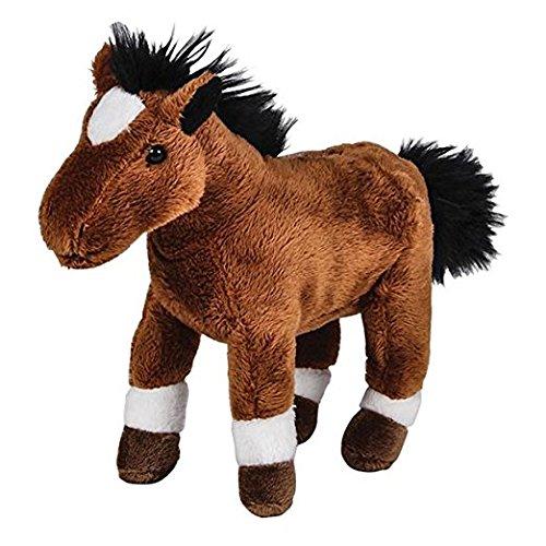 Pounce Pal Plush Brown And White Horse Stuffed Animal (1)
