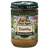 Once Again Organic Crunchy Peanut Butter, 16 Ounce -- 12 per case.