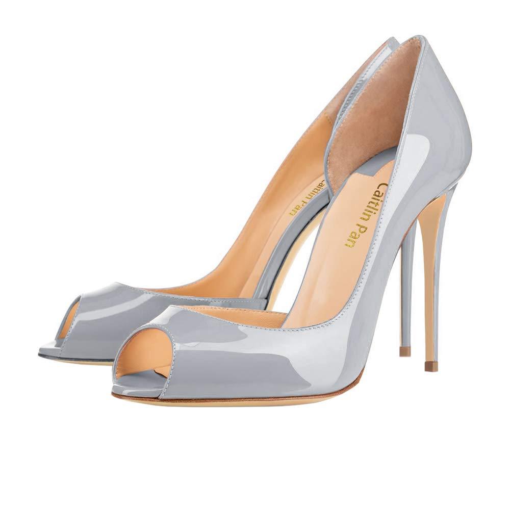 Caitlin Rouge Pan Femmes EscarpinsTalons de Hauts Pointu/Bout Slip on Bout Pointu/Bout Ouvert Semelle Rouge 6,5CM/10 CM/12 CM Pompes Talon Aiguille Chaussures de Bal Gris/Semelle Rouge 7d3d0d4 - deadsea.space