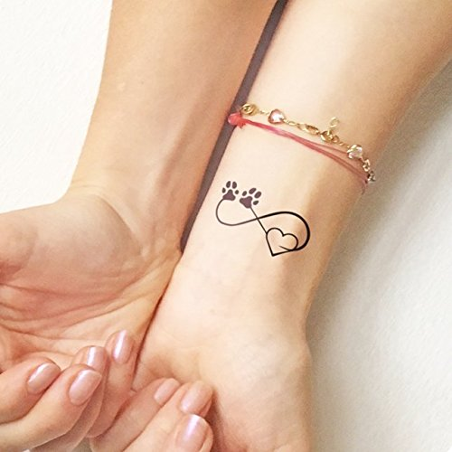 Pet Love - Tatouages temporaires (lot de 2 tatouages)