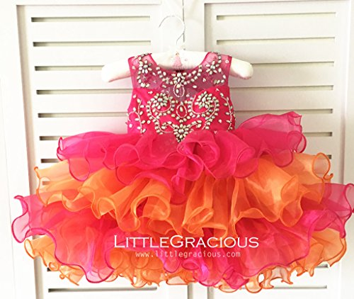 Abela Dress Pageant Dress, Christmas Dress, Glitz Flower Girl Dress LG006 by Little Gracious