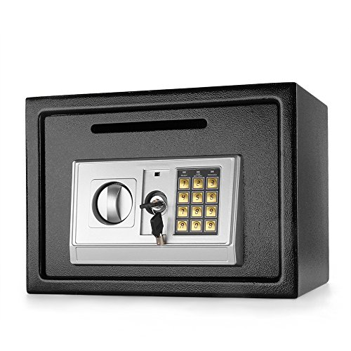 Flexzion Electronic Depository Safe Box with Drop Slot Posting Opening - Digital Keypad Combination Lock Security Cabinet For Home Office Money Documents Gun Cash Deposit Hotel (13.8