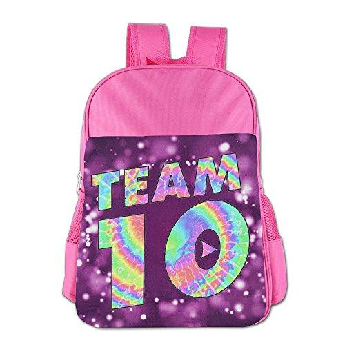 Team10 Tie Dye Jake Paul Childrens School Backpack Carry Bag For Girls Boys