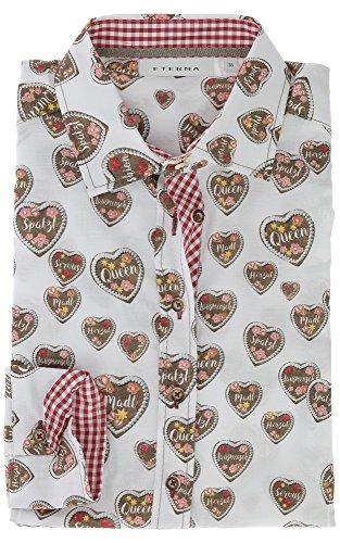 ETERNA long sleeve Blouse COMFORT FIT printed Rojo