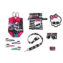Monster High Swimsuit, Mini Backpack, Towel and Accessories