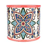 Cachepot de Cerâmica Rounded Floral Vintage Urban Vermelho