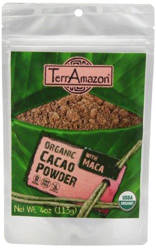 TerrAmazon Cacao en poudre avec Maca, 4 once