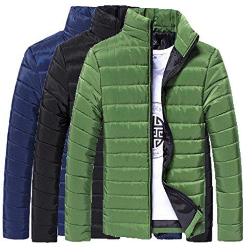 Invierno de SHOBDW Abrigo Chaqueta Azul Caliente Hombres Gruesa algodón Cremallera Stand qAxp17w