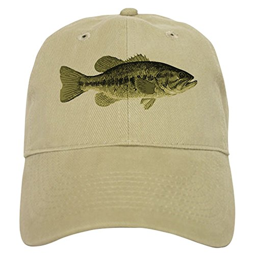 CafePress Largemouth Bass Baseball Cap with Adjustable Closure, Unique Printed Baseball Hat Khaki