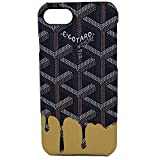 iPhone Black & Yellow Drip Fashion Case for iPhone 7/8 Reg. (Black & Yellow, iPhone 7/8 Reg.)