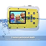 Kids Camera,Hangang Waterproof Underwater Digital Camera 12MP 720P Shoot Digital Video Recorder Cameras for Children Boys Girls(Yellow - NOT include 8G SD card)
