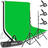 Neewer® 8.5ft X 10ft/2.6M X 3M Background Stand Support System with 6ft X 9ft/1.8M X 2.8M Backdrop(White,Black,Green) for Portrait,Product Photography and Video Shooting