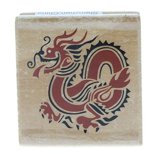 Dragon Rubber Stamps - Chinese Inspired Dragon Wooden Rubber Stamp
