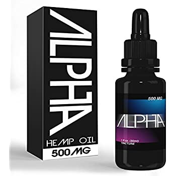 Hemp Oil for Pain Relief, Anxiety: 500mg Hemp Oil Extract Drops for Anxiety, Stress, Anti Inflammatory, Arthritis, Mood Enhancer and Natural Sleep Aid - Best Tincture with Full Spectrum Oils - 1 oz
