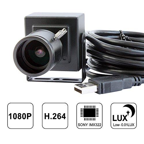 Camera Sensor Module (ELP Sony IMX322 Sensor Mini Usb Camera Module HD 1080P(2.8-12mm lens with housing))